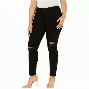 Celebrity Pink distressed black skinny jeans 18